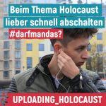 #Uploading_Holocaust - interaktive Schulklassenveranstaltung zur zeitgenösischen Erinnerungskultur
